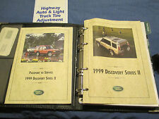 1999 LAND ROVER DISCOVERY II OWNERS MANUAL SET W/ CASE