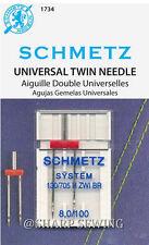 SCHMETZ UNIVERSAL TWIN, DOUBLE NEEDLE #8.0/100, 1 each fits HOME ZIG ZAG MACHINE