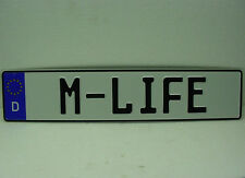 German license plate EC tag M-LIFE for BMW M3 M5 series 3 5 7 bimmer