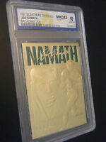 JOE NAMATH 1997 LIMITED EDITION 23KT GOLD CARD GEMMT 10! BROADWAY JOE! NY JETS!!