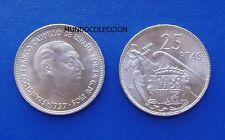 MONEDA DE 25 pesetas 1957 *64 Franco S/C