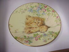 "Cat Nap Kitten Classics 8"" Royal Worcester 8"" Plate Hamilton Collection C-002"