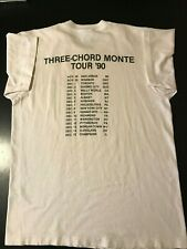 RARE VTG 1990 Pegboy Three Chord Monte Tour T-Shirt Punk Rock Chicago Raygun