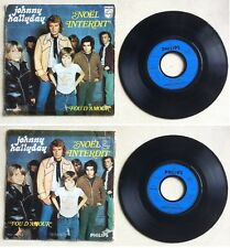 Johnny Hallyday Disque 45T vinyl 2 titres Noël interdit