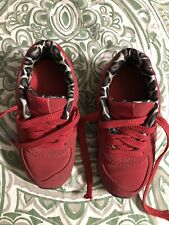 New Balance 574 Girls Red W/ Leopard Trim Size 8 Sneakers Shoes