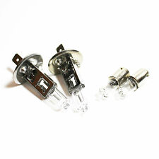 H1 H6W 100w Clear Standard Halogen Xenon HID Low/Side Light Beam Bulbs Set