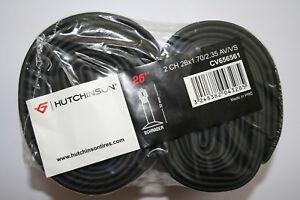 """Hutchinson Schlauch 2 Stück , 26x1.70/2.35"""" 44/60-559 Autoventil Neu"""