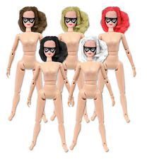 Set of 5 Female Superhero Roto Molded Heads with bodies 8 inch Mego figures