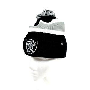 Las Vegas Raiders Football Team NFL '47 Primary Logo Knit Beanie Black Gray Hat
