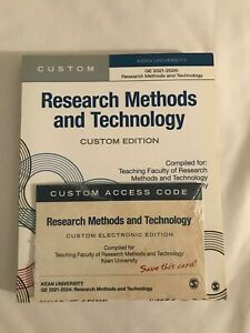 RESEARCH METHODS AND TECHNOLOGY WITH ELECTRONIC VERSION - KEAN UNIVERSITY