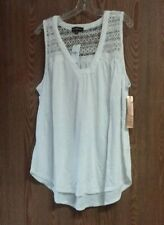 Rue + Almost Famous 2X White Top With Lace
