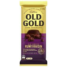NEW Cadbury Tasty Old Gold Dark Chocolate Block Old Jamaica Rum'N'Raisin 180g