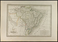 Brazil: Geographical Map Old 1846, Malte-Brun. America the South