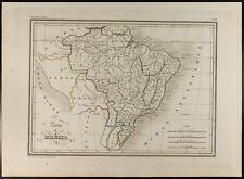Brasile : Carta geografiche antiche del 1846, Malta-marrone. America da Sud