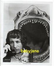 STEVEN SPIELBERG ORIGINAL 8X10 PHOTO ON TELEPHONE W/ OFFSHORE CREW 1975 JAWS