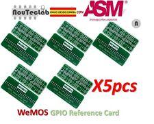 5pcs WEMOS GPIO Reference Card GPIO Board for Raspberry Pi