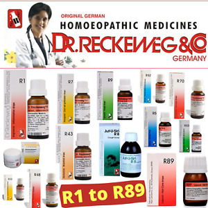 Dr.Reckeweg R1 to R89 Germany Homeopathy Drops - 22 ml Packs | FREE SHIPPING