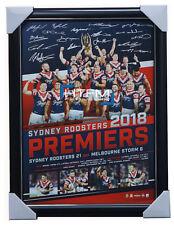 Sydney Roosters 2018 Premiers NRL Team Signed Official Print Framed Cronk Keary
