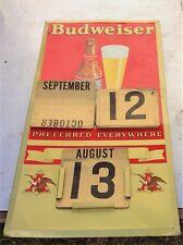 Vintage  Budweiser Beer Calendar Sign Complete/Old Brewery