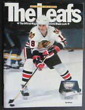 1982 Maple Leaf Gardens 50th Anniversary NHL Program Toronto-Chicago Blackhawks