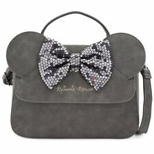 Loungefly by Disney - Minnie Mouse Grey Sequined Handbag Tote