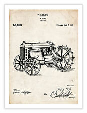 """FORD TRACTOR INVENTION POSTER 1919 US Patent Art Retro Print Henry Farm 18x24"""""""
