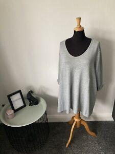 Evans Plus Size Long Top Size 26/28 - Grey