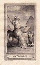 Gravure XVIIIe Mythologie Myth Mythology Mitologia Міфологія Ephéméride 1791
