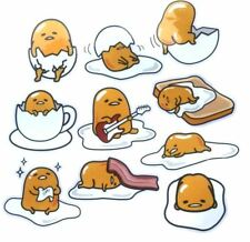 1 sheet = 10PCS x Yellow Egg Gudetama PVC  5.5cm Sticker