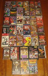 45 x Football Videos - Australian - AFL - Hawthorn - VGC - PAL - VHS - Lot -Rare