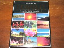 Vtg 1991 Box Island of Hawaii 12 Best Selling Postcards Tropical Hula Volcano