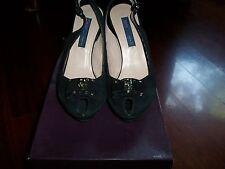 Scarpe donna Frau decoltè camoscio,colore nero,numero 35 FRAU shoes, black, NEW!