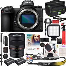 Nikon Z6 Mirrorless Camera Body + Rokinon 85mm F1.4 Lens Backpack Deluxe Bundle