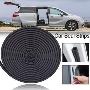 Universal 16Ft Rubber Car Door Seal Strip Hollow Edge Guard Weatherstrip D-Shape