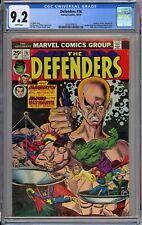 Defenders #16 CGC 9.2 NM- Wp Vs. Magneto & Brotherhood of Evil Mutants 1974 RARE
