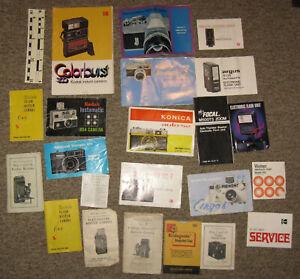 Vintage/Antique Camera Manual Collection, 20+ Booklets