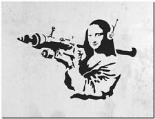 "BANKSY STREET ART CANVAS PRINT Da Vinci Mona Lisa Rocket 32""X 24"" poster"