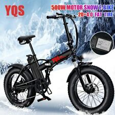 Electric Bike 20inch 500W Snow Mountain 4.0 Fat Tire Ebike Beach YQS New