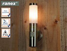 LED Außenwandleuchte mit Bewegungsmelder, E27 Wandfackel Fassadenbeleuchtung
