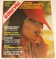 INTERVIU #17 1976 Camilo Jose Cela Jacques Chirac Spain men's magazine revista