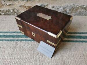 An Antique Rosewood  Brass Bound Box