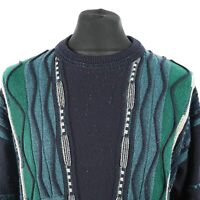 90s Vintage Cosby Sweater | Jumper Knit Knitwear 3D Retro Patterned