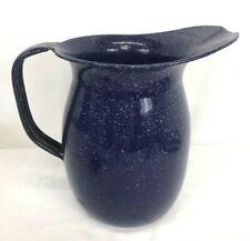 Vintage Us Navy Metal Enamel Officers Wardroom Water Pitcher