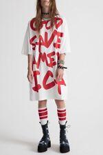 Fashion White God Save America Letters Print Shirt Comfortable Casual Dress