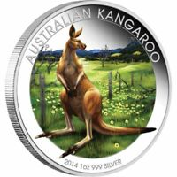 2014 Perth Mint Berlin coin show Special Australian Kangaroo 1oz silver coloured