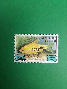 Bénin surchargé overprint 175f sur 150f neuf MNH Poisson