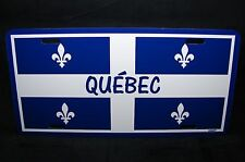 QUEBEC FLAG CAR LICENSE PLATE  PLAQUE DE LICENCE DU DRAPEAU DU QUÉBEC