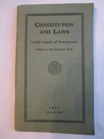 1934 ORDER OF THE EASTERN STAR CONSTITUTION AND LAWS BOOKLET - BN-9
