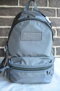 NWT Marc Jacobs The Backpack Medium Nylon Lightweight Dark Grey gray