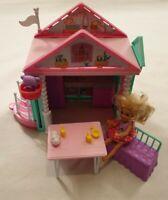 Barbie Club Chelsea Playhouse with Chelsea Doll Puppy & Teddy Bear Playset Toy